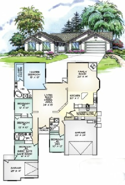 Silerton Floor Plan - Garage Left